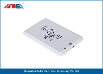China White HF USB RFID Reader For Passive RFID Tags Support Anti - Collision Algorithm supplier