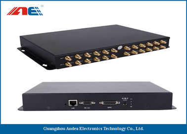 24 Channels HF RFID Fixed Reader , High Power RFID Reader For Bookshlef Inventory Management