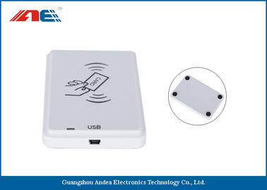 China White NFC Contactless Reader , Anti - Collision Mifare NFC Reader And Writer supplier