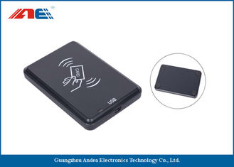 China 13.56 MHz Desktop Contactless RFID Reader , USB Interface RFID Chip Readers 46g supplier