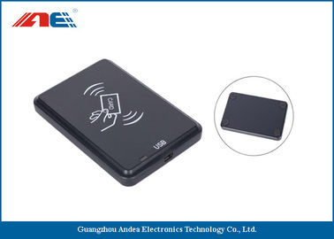 China 13.56 MHz Desktop Contactless RFID Reader Writer, USB Interface RFID Chip Readers 46g supplier