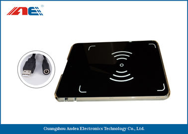 China RFID USB Reader Writer , HF OEM RFID Reader Integrated With Antenna supplier
