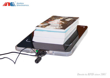 ISO15693 Library RFID Reader Staff Workstation For Books Check In / Out Acrylic Surface