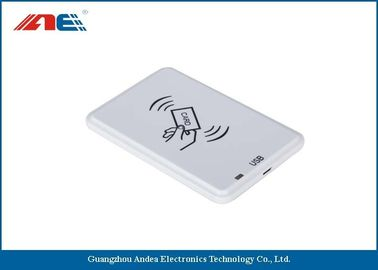 China White HF USB RFID Reader For Passive RFID Tags Support Anti - Collision Algorithm factory
