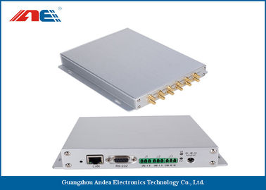 China Aluminum Alloy Housing Fixed RFID Reader With 12 Channels Anti Collision Algorithm distributor