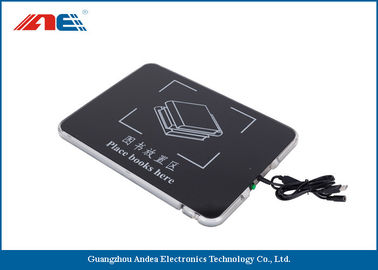 China Square USB Desktop RFID Reader For Books Management Metal Shielding Design distributor