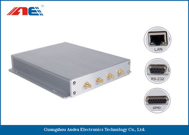 China SMA*4 Antenna Interface Long Range RFID Reader Reading Range 90CM With Four Channels distributor