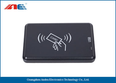 China Black USB Interface IOT RFID Reader And Writer Anti Collision Algorithm distributor