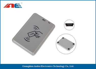 China Handy Compact Mifare RFID Reader , Smart Chip Card Reader Writer USB Support Power factory