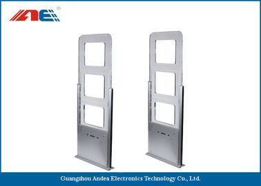 China EAS / AFI Alarm Attached RFID Gate Reader For Library Entrance System Aisle Width 90CM factory