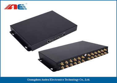 China 24 Channels Long Distance RFID Reader , Long Range RFID Card Reader Metal Plate Housing distributor