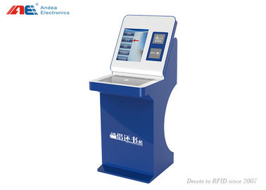 China RFID Library Automation Management Books Check In / Out Self Service Kiosk Machine factory
