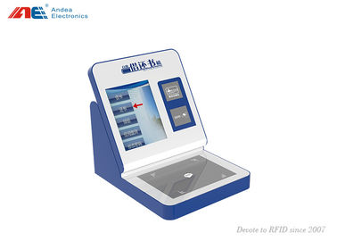 China RFID Tagged Books Borrow / Return Self Service Kiosk Built In RFID Reader For Library distributor