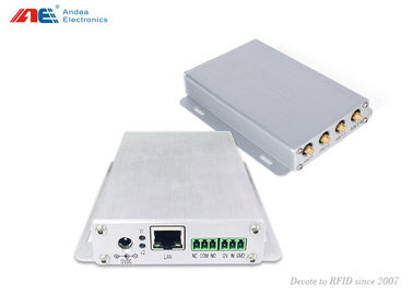 China 4 Antenna channel Mid Range RFID Reader with Adjustable RF Power distributor
